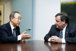 Secretary-General Meets Governor of New Jersey