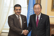 Secretary-General Meets Chair of Qatar Rule of Law Anti- Corruption Centre
