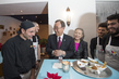 Secretary-General and Mrs. Ban Visit Habibi & Hawara Restaurant in Vienna
