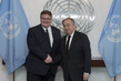 Secretary-General Meets Foreign Minister of Lithuania