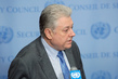 Security Council President Briefs Press on Syria