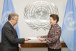 New Permanent Observer of International Chamber of Commerce Presents Credentials 0.019704778