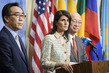 Representatives of Japan, Republic of Korea, US Brief Press on DPRK Missile Launch 0.65409786