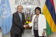 Secretary-General Meets President of Mauritius