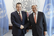 Secretary-General Meets Deputy Prime Minister of Serbia
