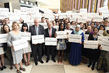 UN Staff Stand Together Marking World Humanitarian Day 1.0