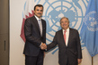 Secretary General Meets Amir of Qatar