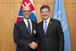 President of General Assembly Meets Foreign Minister of Italy