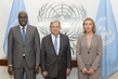 Secretary-General Holds Trilateral Meeting with AU, EU