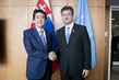 President of General Assembly Meets Prime Minister of Japan