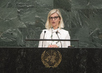 Danish Minister for Development Cooperation Addresses General Assembly