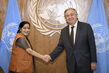Secretary-General Meets Foreign Minister of India 1.0