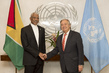 Secretary-General Meets President of Guyana
