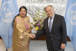 Secretary-General Meets Speaker of Bangladesh Parliament 2.8354506