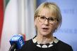 Foreign Minister of Sweden Addresses Press 0.6555303