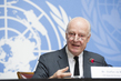 UN Envoy for Syria Briefs Press