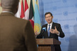 Security Council President Briefs Press