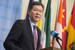 Security Council President Briefs Press on UN Central Asia Office