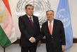 Secretary-General Meets President of Tajikistan 0.3876345