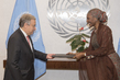 New Permanent Observer of African Union Presents Credentials 2.843749
