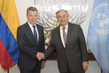Secretary General Meets President of Colombia