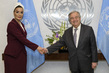 Secretary-General António Guterres Meets with Chairperson of Qatar Foundation for Education, Science and Community Development