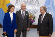 Secretary-General Meets King and Queen of Sweden