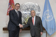 Secretary-General Meets President of Serbia