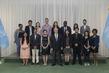 Secretary-General Meets 2019 Reham Al-Farra Fellows 2.8594427