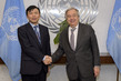 Secretary-General Meets with President of Security Council for January 2.858138