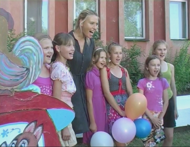 International Tennis champion and UN Development Programme's Goodwill Ambassador Maria Sharapova visits her family's hometown of Gomel in Belarus, an area affected by the 1986 Chernobyl nuclear disaster. UNDP