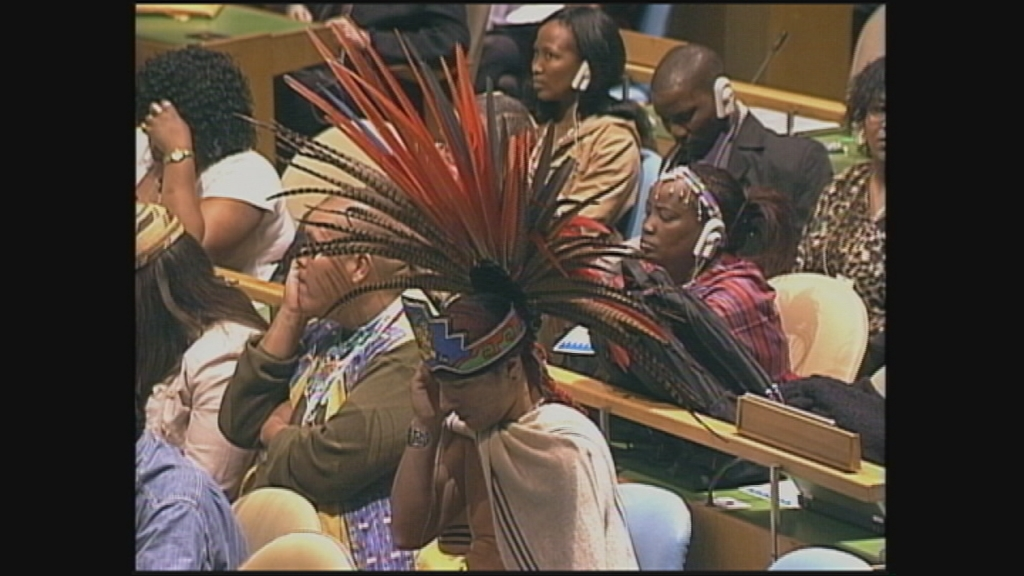 Selected frame from video story UN / INDIGENOUS FORUM WRAP
