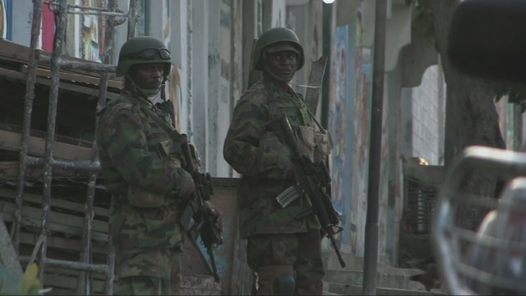 Selected frame from video story SOMALIA – SECURITY CRACKDOWN