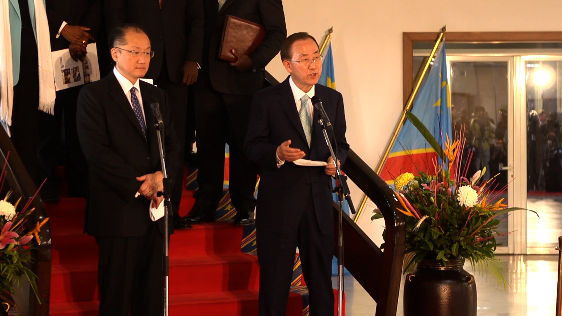 Selected frame from video story DR CONGO/ BAN KI-MOON- JIM YONG KIM