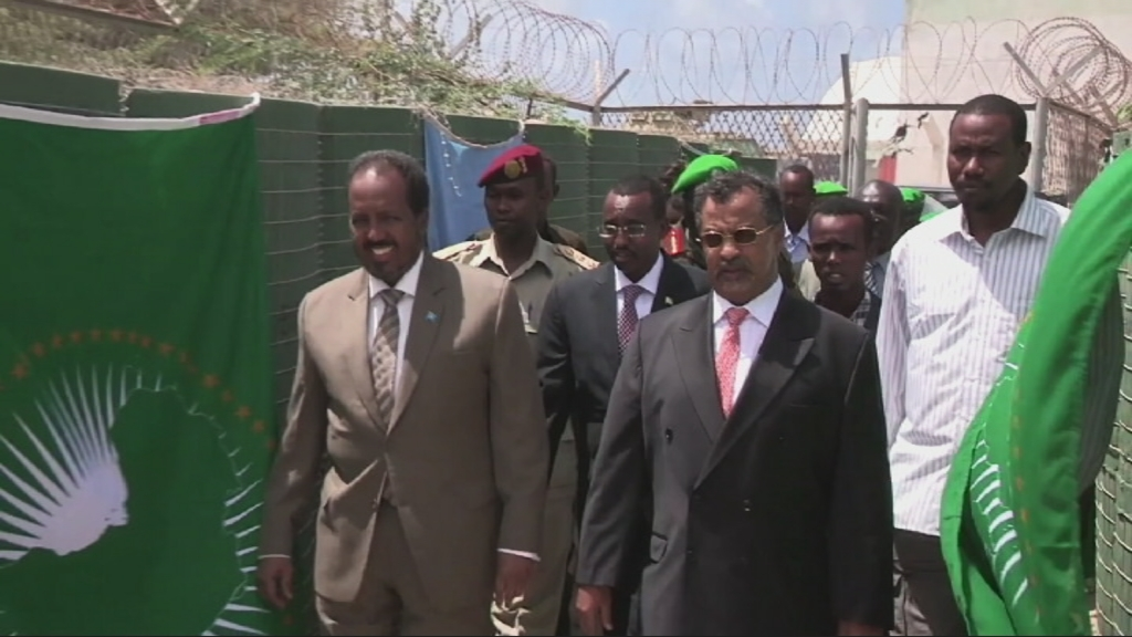 Selected frame from video story SOMALIA / AU 50th ANNIVERSARY