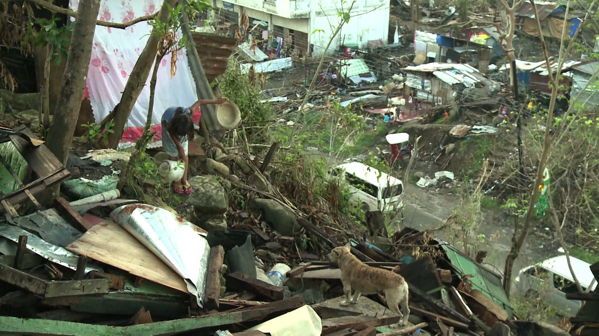 Selected frame from video story PHILIPINES/ ILO ONE MONTH UPDATE