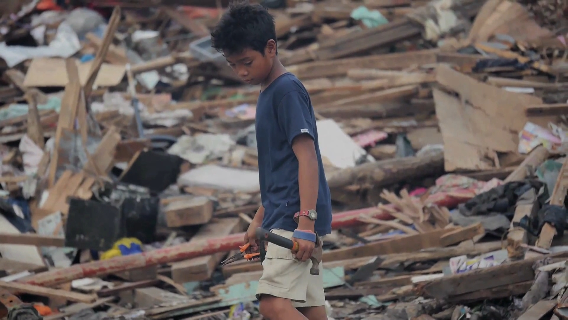 Selected frame from video story PHILIPPINES / DISPLACED ONE MONTH UPDATE
