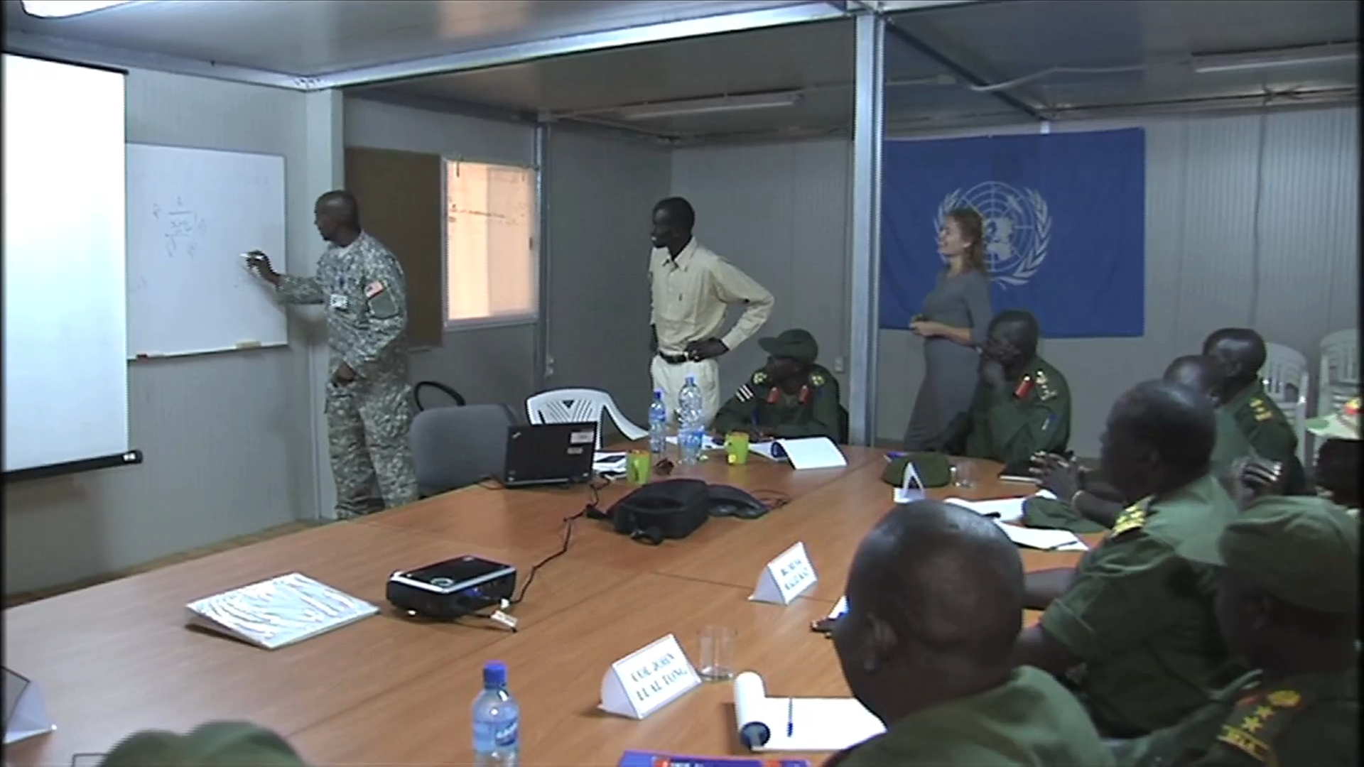 Selected frame from video story SOUTH SUDAN/ SPLA TRAINING