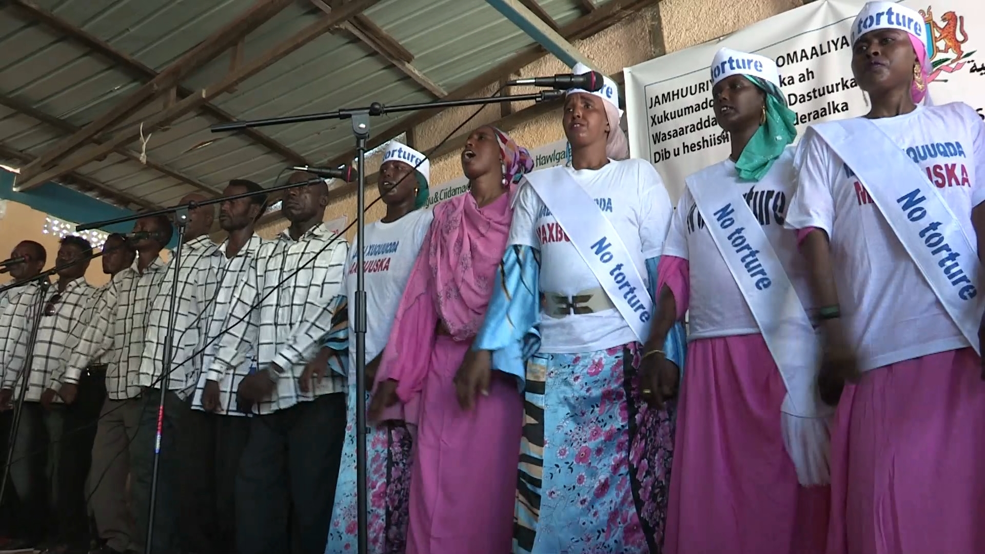 Selected frame from video story SOMALIA / HUMAN RIGHTS DAY