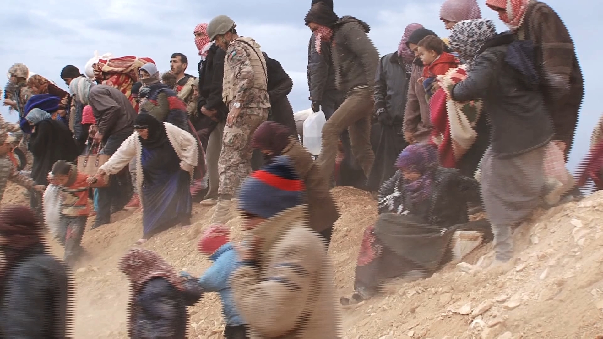 Selected frame from video story JORDAN / SYRIANS CROSSING BORDER