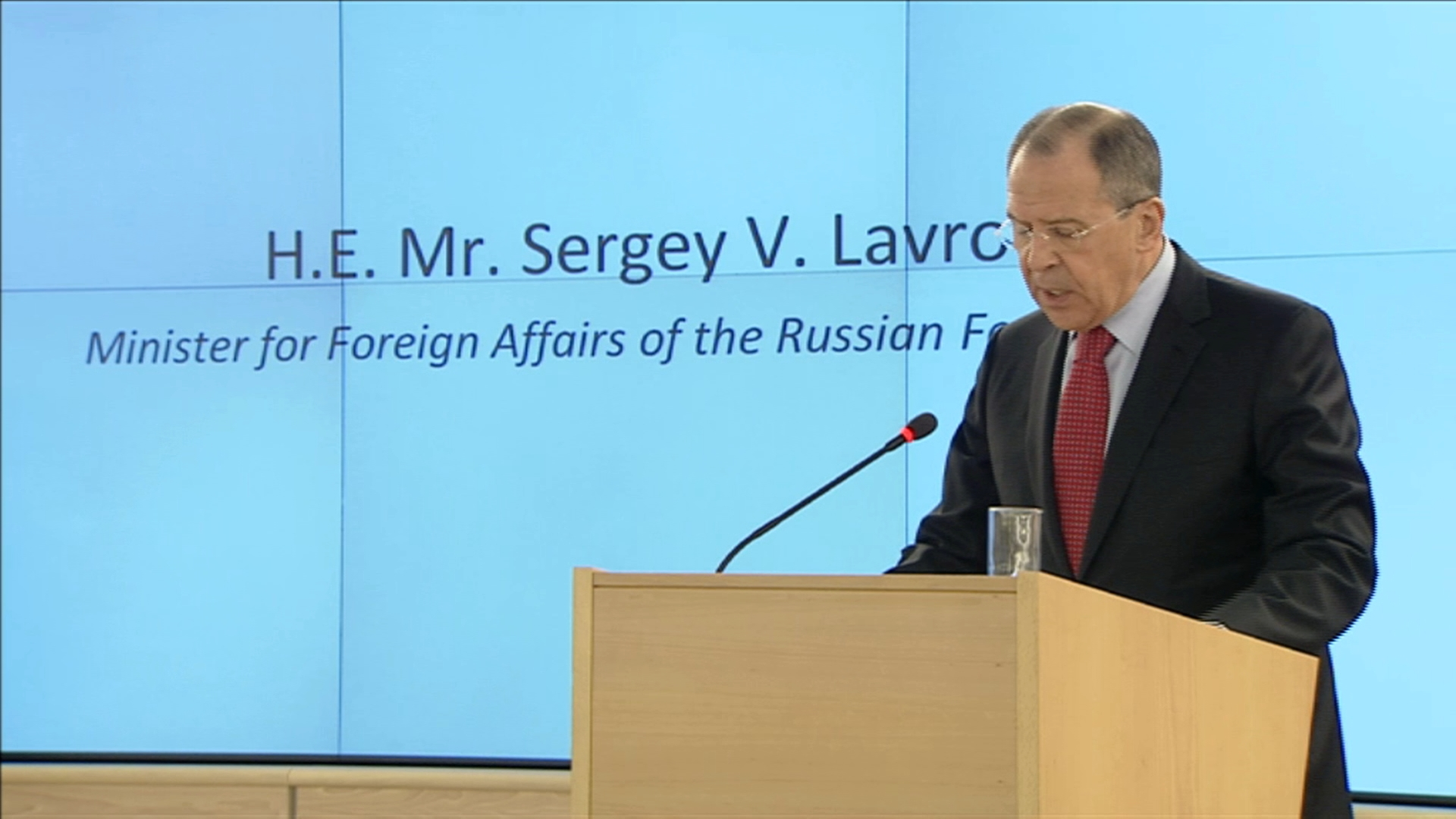 Selected frame from video story GENEVA / LAVROV HUMAN RIGHTS COUNCIL