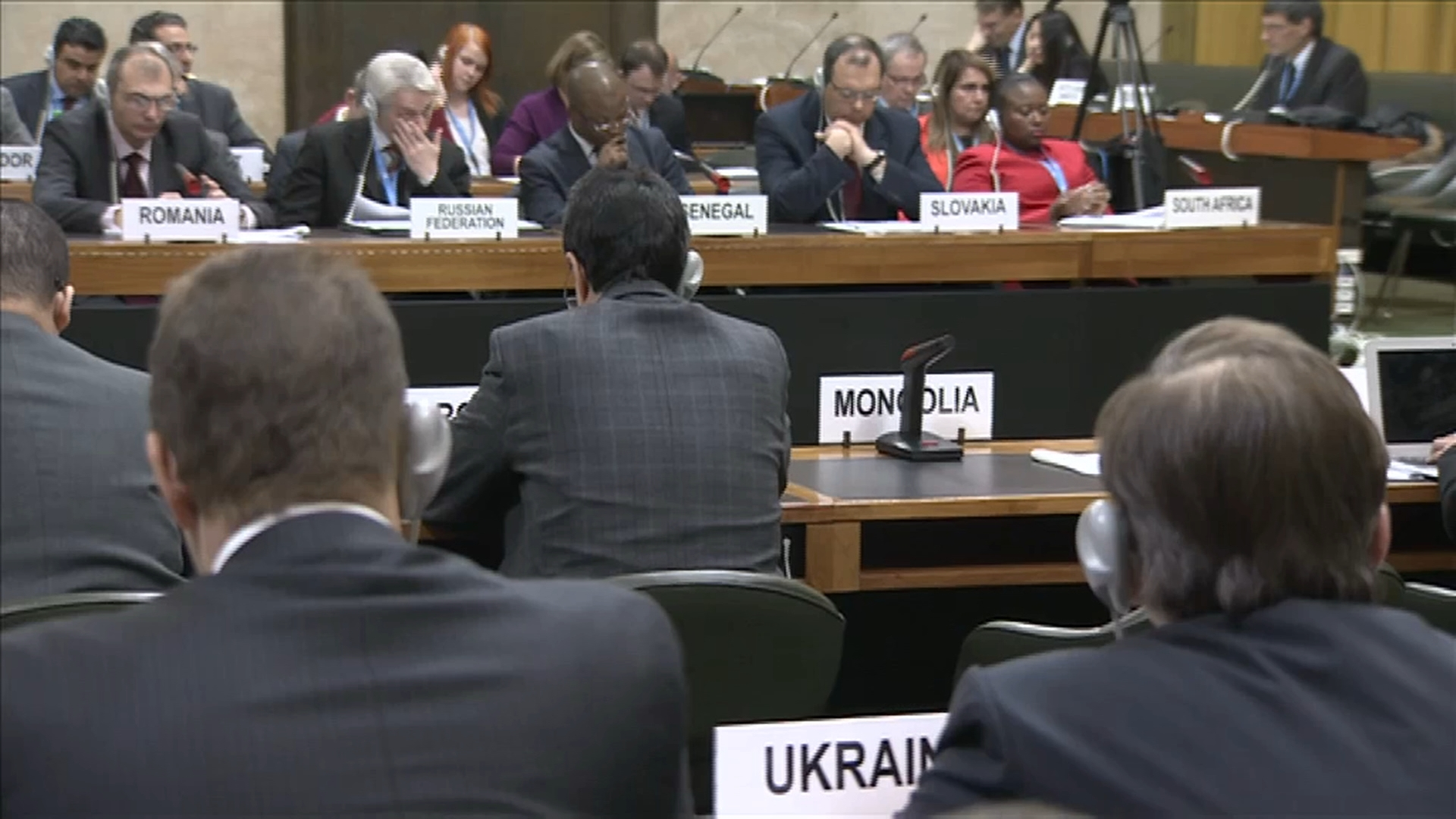 Selected frame from video story GENEVA/ UKRAINE DISARMAMENT WRAP