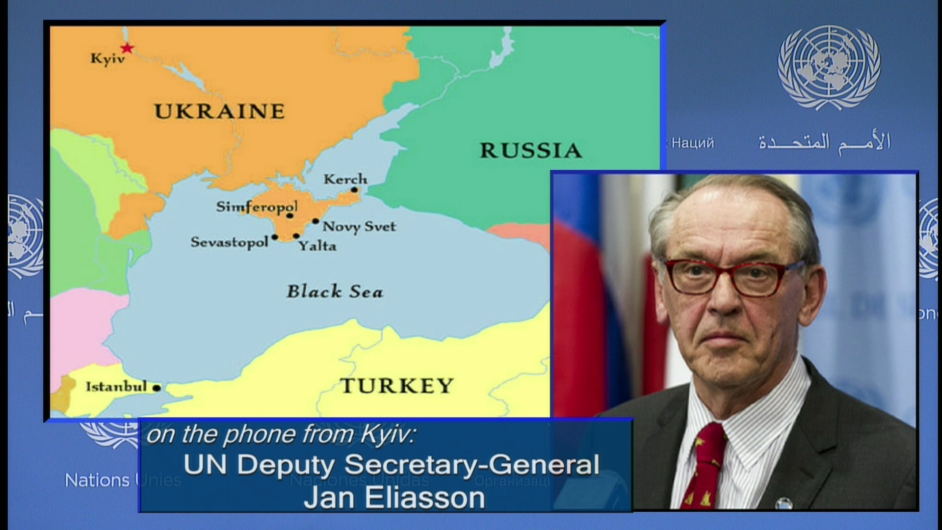 Selected frame from video story UN / UKRAINE ELIASSON