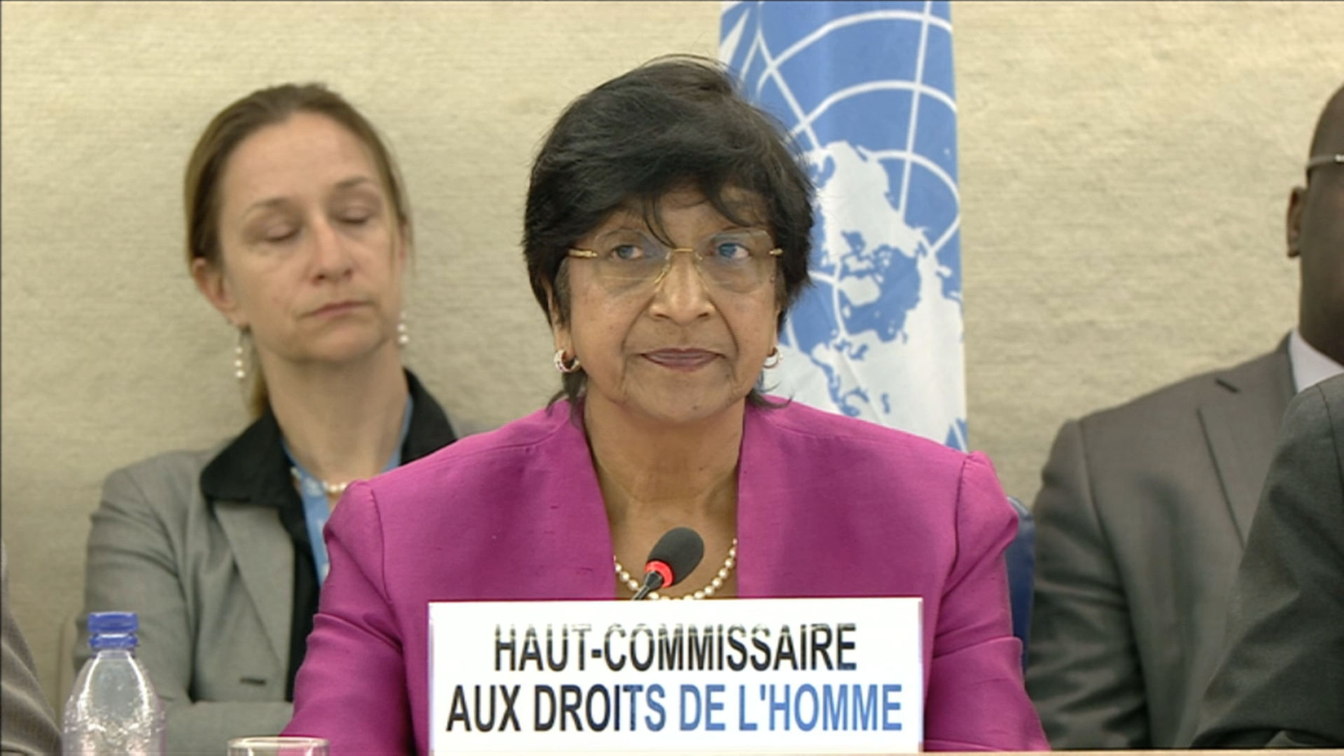 Selected frame from video story GENEVA / PILLAY HUMAN RIGHTS COUNCIL