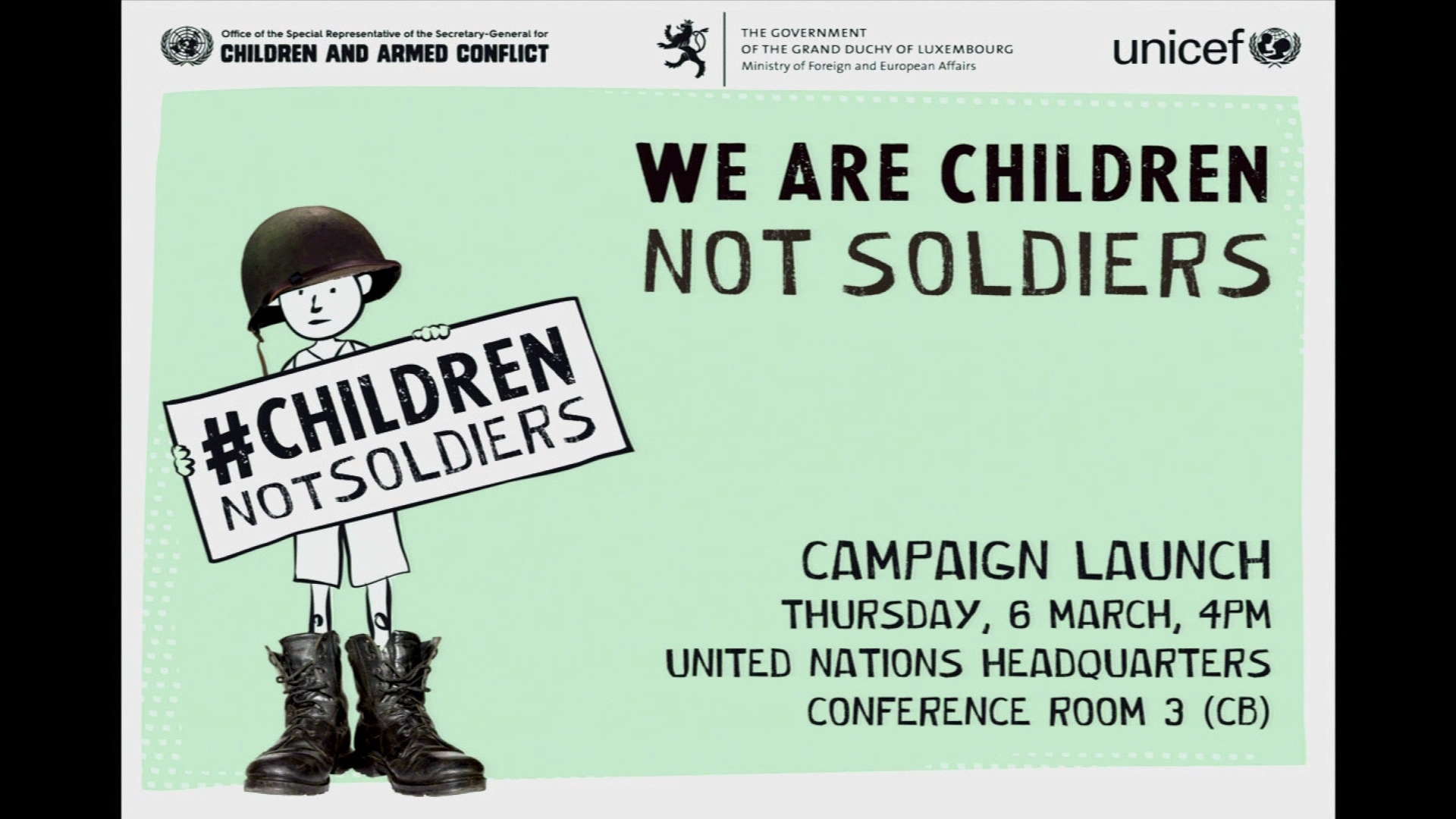 Selected frame from video story UN / CHILD SOLDIERS WRAP