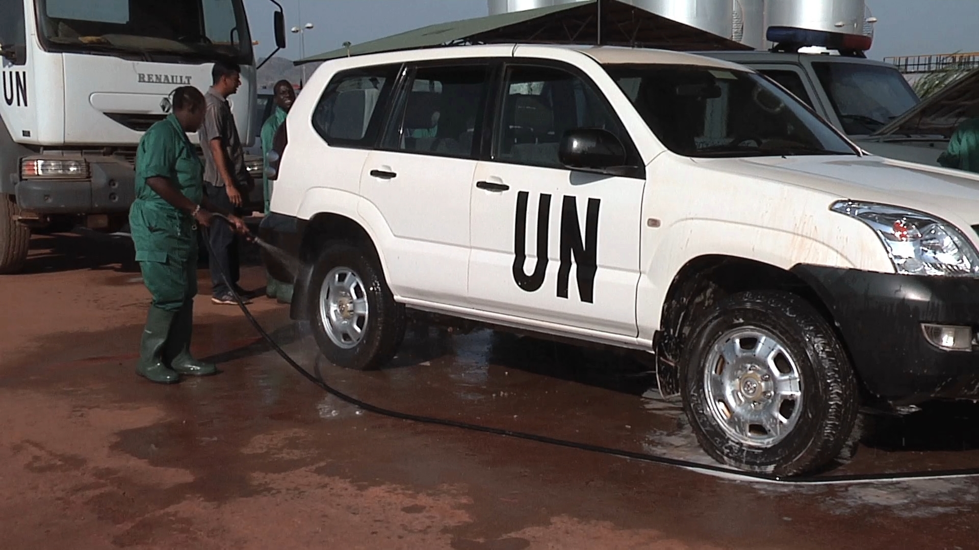 Selected frame from video story UNMISS / CAR WASH