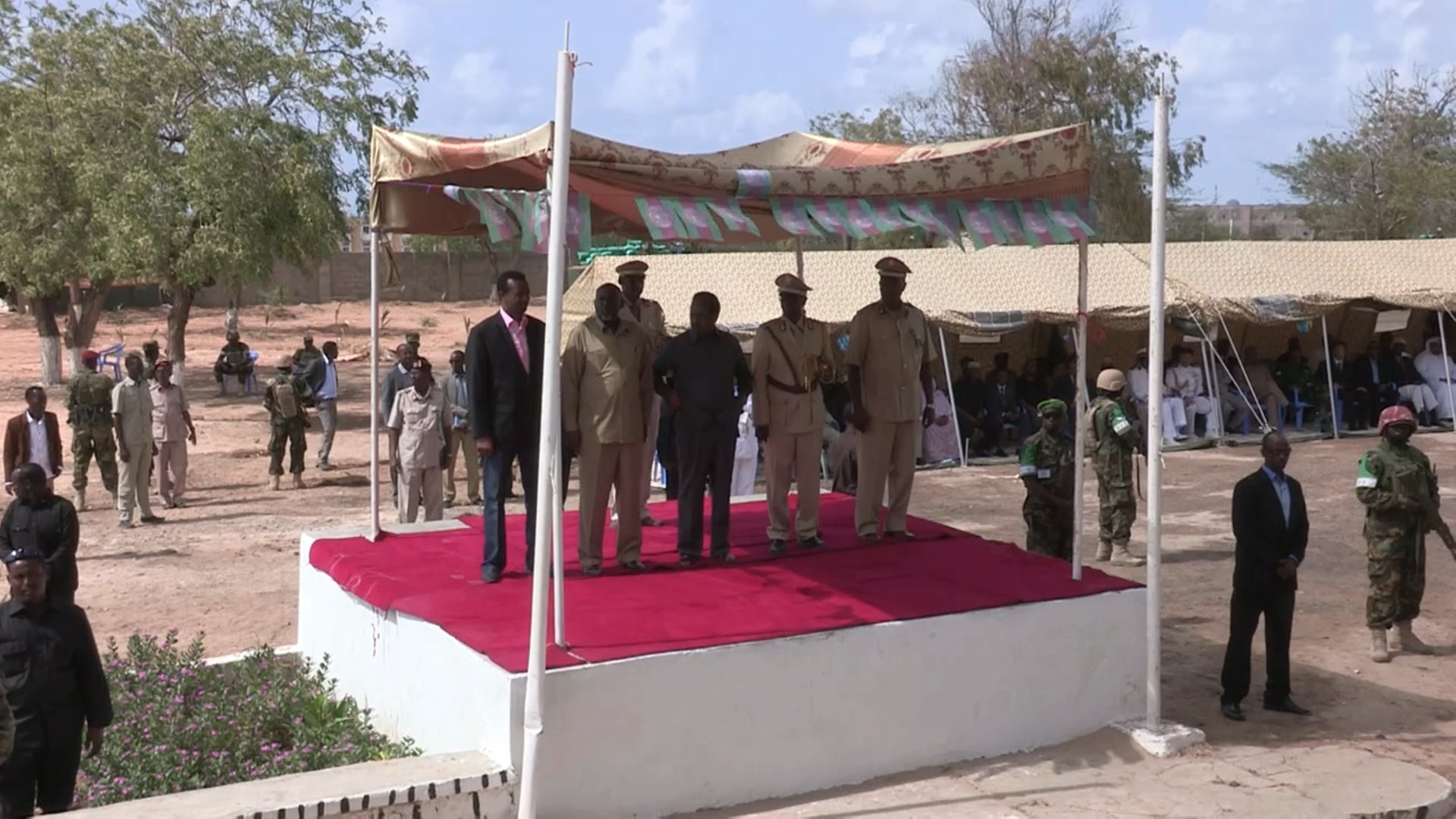 Selected frame from video story SOMALIA / NATIONAL ARMY ANNIVERSARY