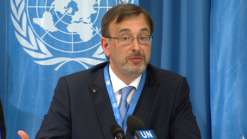 Selected frame from video story GENEVA / UKRAINE YURII KLYMENKO PRESSER