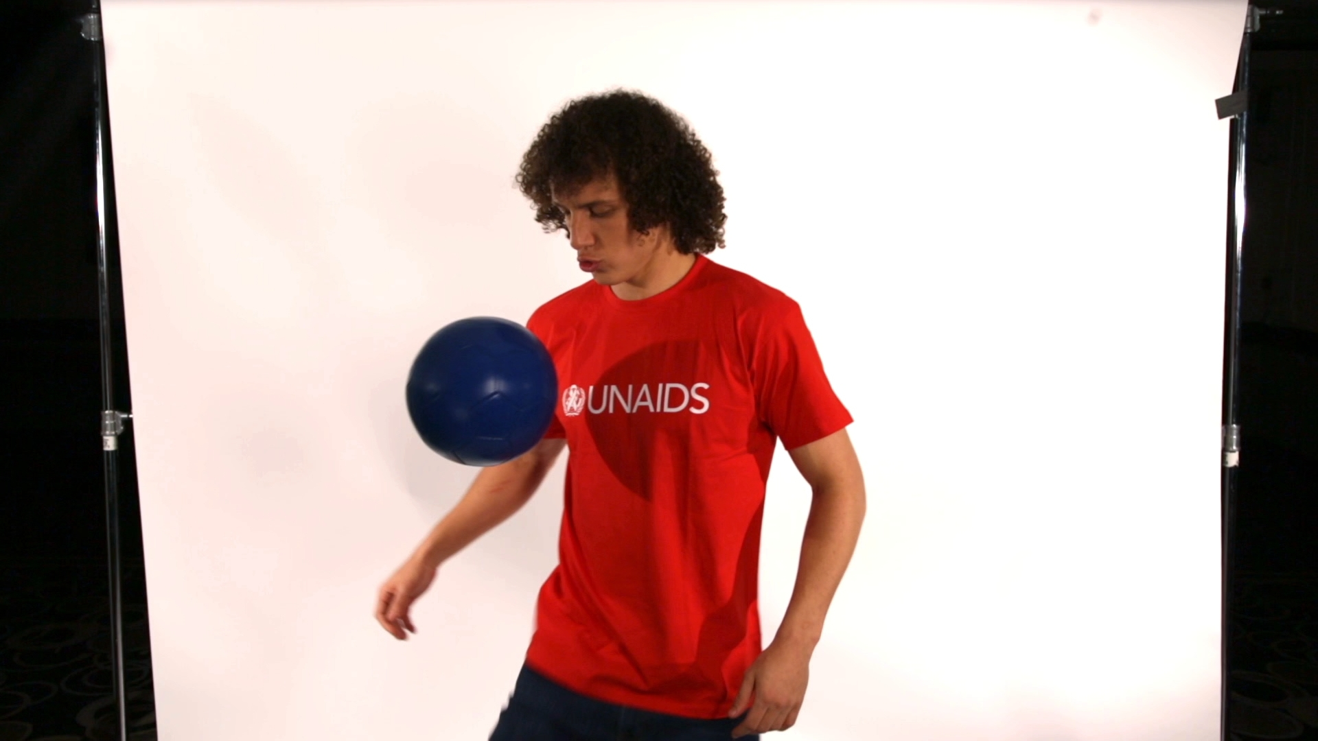 Selected frame from video story UNAIDS / DAVID LUIZ