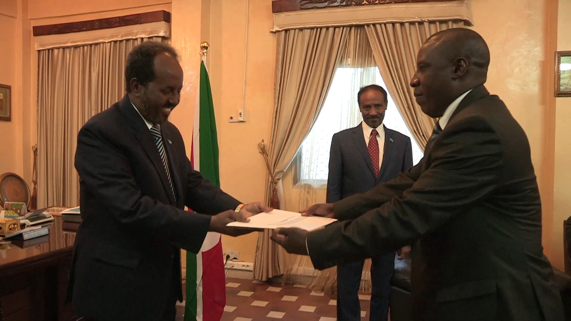 Selected frame from video story SOMALIA / BURUNDI AMBASSADOR